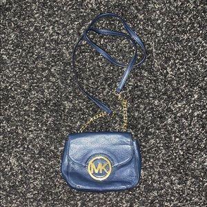 Navy blue Michael Kors purse